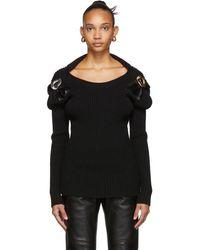 Bottega Veneta ブラック Techno ウール セーター