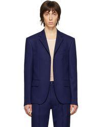 Random Identities Navy Buttonless Blazer - Blue