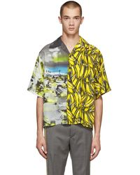 Prada - Chemise a manches courtes multicolore Bananas and Cartoon - Lyst