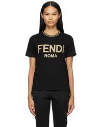 Fendi ブラック T シャツ