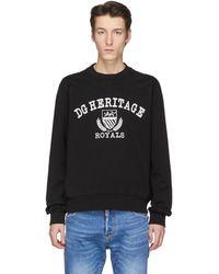 Dolce & Gabbana - ブラック Heritage スウェットシャツ - Lyst