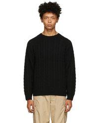 Beams Plus ブラック 5g セーター