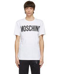 Moschino - ホワイト ロゴ T シャツ - Lyst