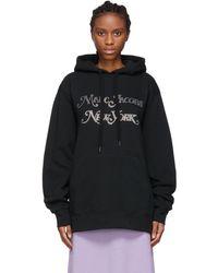 Marc Jacobs Sweat À Capuche En Jersey Avec Logo En Cristaux - Noir