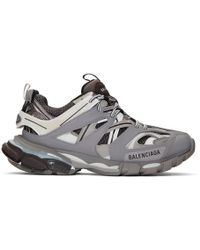 Balenciaga - Baskets grises et blanches Track - Lyst