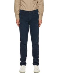 Tom Ford Blue Washed Corduroy Slim-fit Trousers