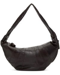 Lemaire - Brown Leather Large Bum Bag - Lyst