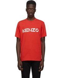 KENZO - レッド Classic ロゴ T シャツ - Lyst