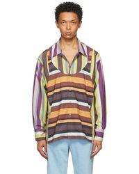 Phlemuns Multicolour Striped Slip Up Shirt