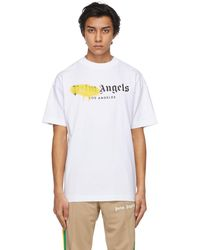 Palm Angels - White Sprayed Logo La T-shirt - Lyst
