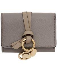 Chloé Grey Mini Alphabet Wallet - Gray