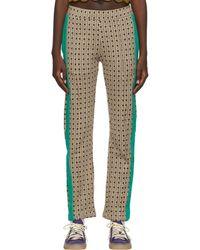 Wales Bonner Pantalon de survêtement Clarendon brun à motif géométrique - Multicolore