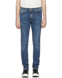 Nudie Jeans ブルー Lean Dean ジーンズ