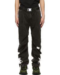99% Is Pantalon de survêtement noir Washing D-Ring