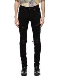 Amiri Black Mx1 Leather Jeans