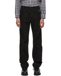 Reese Cooper Cotton Pintuck Pants - Black
