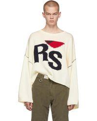 Raf Simons - オフホワイト Rs セーター - Lyst