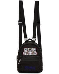 KENZO - Black Mini Tiger Backpack - Lyst