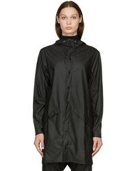 Rains ロング レイン コート - ブラック