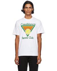 CASABLANCA - ホワイト Tennis Club T シャツ - Lyst