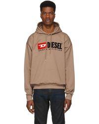 DIESEL - Brown S-division Hoodie - Lyst