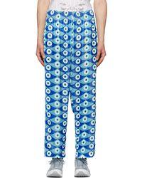 GmbH Pantalon bleu Eyeprint Snap