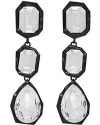 Ambush - Black Crystal Stone Earrings - Lyst