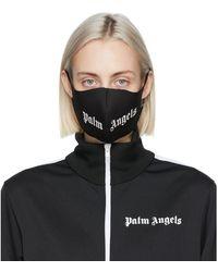 Palm Angels Masque a logo noir