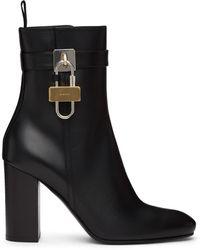 Givenchy ブラック Padlock ブーツ