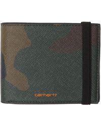 Carhartt WIP グリーン 迷彩 バイフォールド ウォレット