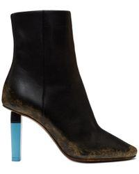 Vetements - Black Highlighter Gypsy Boots - Lyst