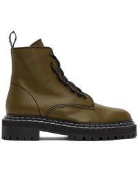 Proenza Schouler Brown Lace-up Boots - Multicolour