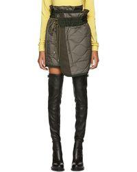 Sacai - Khaki Quilted Nylon Wrap Miniskirt - Lyst