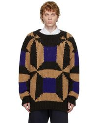 Dries Van Noten ブラウン & ブルー カラーブロック セーター