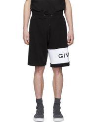 Givenchy ブラック エンブロイダリー ロゴ ショーツ
