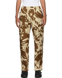 Paria Farzaneh Brown & Beige Camo Army Cargo Pants - Natural