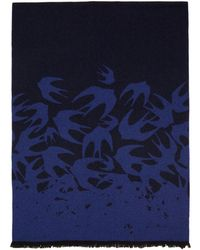 McQ - Blue Swallow Degrade Scarf - Lyst