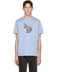 PS by Paul Smith - ブルー Zebra T シャツ - Lyst