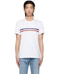 Moncler - ホワイト ロゴ T シャツ - Lyst
