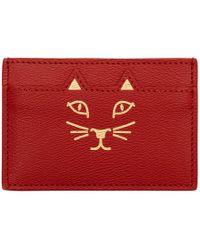 Charlotte Olympia - Red Feline Card Holder - Lyst