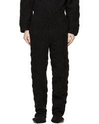 Doublet ブラック Hand-crochet Bear スウェットパンツ