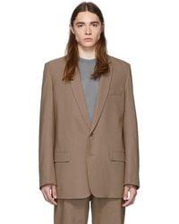 Tibi - Ssense Exclusive Brown Long Blazer - Lyst