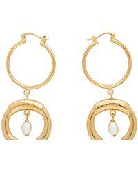 Chloé Gold Darcey Earrings - Metallic