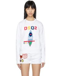 DSquared² - White Surf Camp Logo Diana Sweatshirt - Lyst