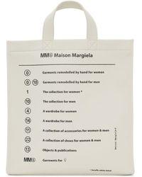 MM6 by Maison Martin Margiela ホワイト ガーメント プリント トート