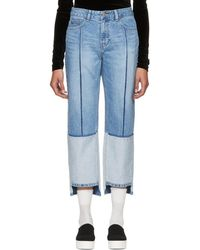 SJYP - Blue Tone-on-tone Tomboy Jeans - Lyst