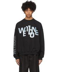 we11done ブラック メタル ロゴ スウェットシャツ