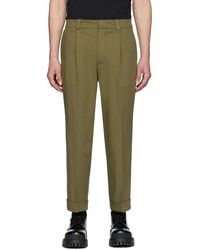 Acne Studios Green Cropped Tapered Fit Trousers