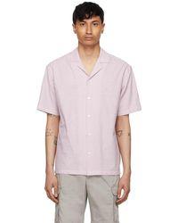 Z Zegna - #usetheexisting コレクション ピンク & ホワイト ストライプ ショート スリーブ シャツ - Lyst