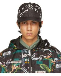 Givenchy Casquette noire Refracted Logo
